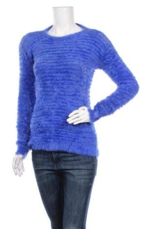 Дамски пуловер Reckon, Размер S, Цвят Син, 70% вълна, 10% памук, 10% коприна, 10% еластан, Цена 26,25лв.