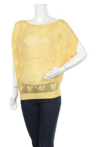 Дамски пуловер Red Queen, Размер M, Цвят Жълт, 65% памук, 35% полиестер, Цена 6,56лв.