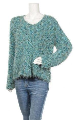 Дамски пуловер Sigrid Olsen, Размер L, Цвят Зелен, 55% полиестер, 35% памук, 10% акрил, Цена 12,38лв.