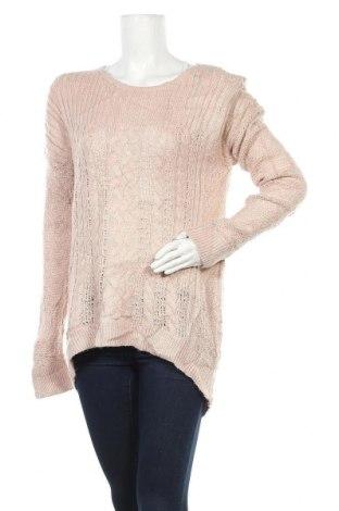 Дамски пуловер Sonoma, Размер L, Цвят Розов, 66% акрил, 28% полиамид, 6% други материали, Цена 6,04лв.