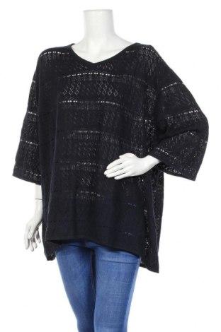Γυναικείο πουλόβερ Ulla Popken, Μέγεθος XXL, Χρώμα Μπλέ, 50% πολυακρυλικό, 50% βαμβάκι, Τιμή 23,39€