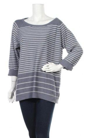 Γυναικείο πουλόβερ Ulla Popken, Μέγεθος XL, Χρώμα Μπλέ, 50%ακρυλικό, 50% βαμβάκι, Τιμή 15,20€