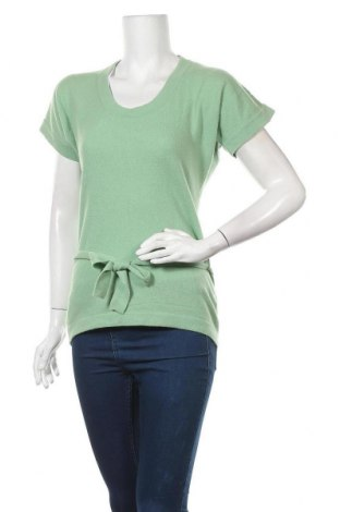 Дамски пуловер United Colors Of Benetton, Размер M, Цвят Зелен, 70% вълна, 20% полиамид, 10% ангора, Цена 11,34лв.