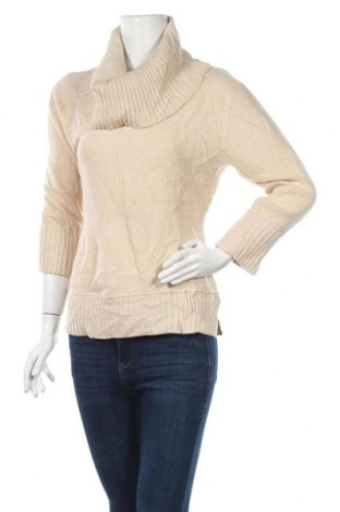 Дамски пуловер Verve, Размер L, Цвят Бежов, 85% акрил, 10% полиестер, 5% метални нишки, Цена 6,56лв.