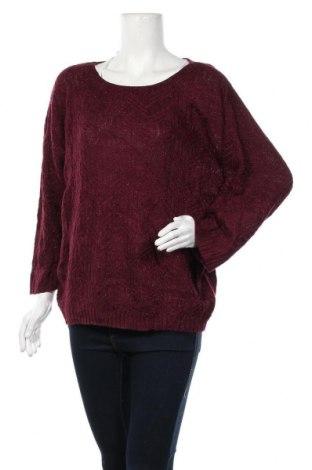 Дамски пуловер Warehouse One, Размер XL, Цвят Червен, 96% акрил, 4% метални нишки, Цена 11,55лв.