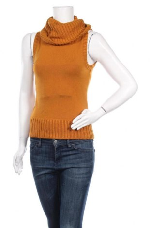 Дамски пуловер Zero, Размер S, Цвят Жълт, 87% полиакрил, 11% полиамид, 2% еластан, Цена 23,10лв.