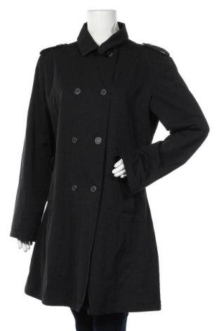 Дамски шлифер, Размер L, Цвят Черен, 68% полиестер, 32% памук, Цена 19,85лв.