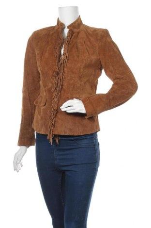 Γυναικείο δερμάτινο σακάκι Pamela McCoy, Μέγεθος XS, Χρώμα  Μπέζ, Γνήσιο δέρμα, Τιμή 19,55€