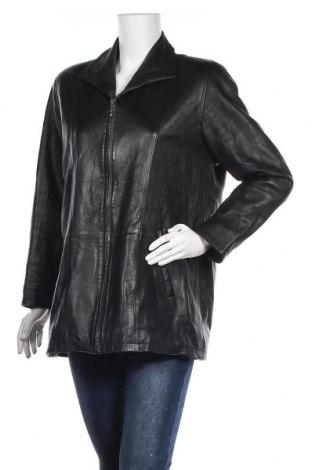 Дамско кожено яке, Размер S, Цвят Черен, Естествена кожа, Цена 16,25лв.