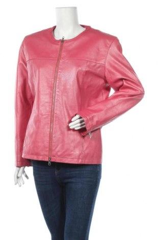 Дамско кожено яке, Размер L, Цвят Розов, Естествена кожа, Цена 55,97лв.