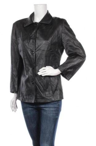 Дамско кожено яке, Размер M, Цвят Черен, Естествена кожа, Цена 16,28лв.