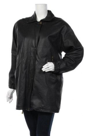 Γυναικείο δερμάτινο μπουφάν, Μέγεθος M, Χρώμα Μαύρο, Γνήσιο δέρμα, Τιμή 18,64€