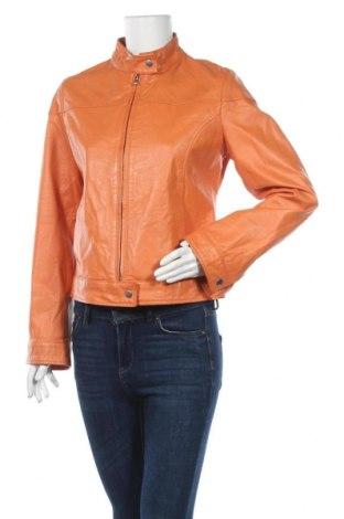 Дамско кожено яке, Размер L, Цвят Оранжев, Естествена кожа, Цена 41,58лв.