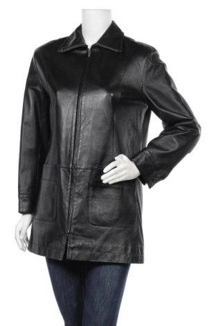 Дамско кожено яке, Размер M, Цвят Черен, Естествена кожа, Цена 21,53лв.