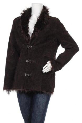 Дамско кожено яке, Размер XL, Цвят Кафяв, Естествена кожа, Цена 15,88лв.