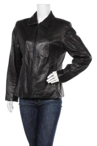Дамско кожено яке, Размер L, Цвят Черен, Естествена кожа, Цена 19,43лв.