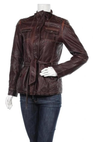 Дамско кожено яке, Размер S, Цвят Кафяв, Еко кожа, Цена 11,03лв.