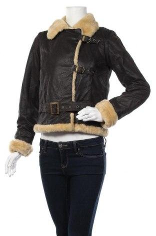 Γυναικείο δερμάτινο μπουφάν Apart, Μέγεθος XS, Χρώμα Καφέ, Γνήσιο δέρμα, Τιμή 57,87€