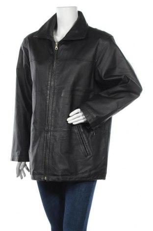 Γυναικείο δερμάτινο μπουφάν Ashley Brooke, Μέγεθος XL, Χρώμα Μαύρο, Γνήσιο δέρμα, Τιμή 44,81€