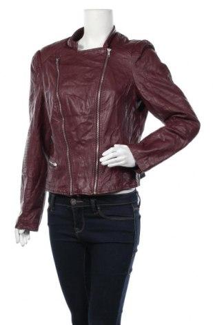 Дамско кожено яке Best Connections, Размер L, Цвят Червен, Еко кожа, Цена 27,98лв.