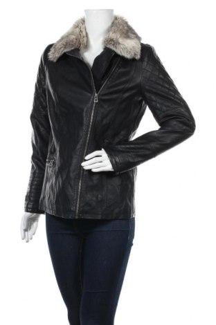 Дамско кожено яке Charles Vogele, Размер M, Цвят Черен, Еко кожа, Цена 34,65лв.