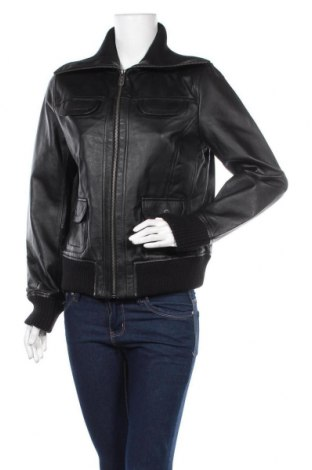 Дамско кожено яке East Village, Размер L, Цвят Черен, Естествена кожа, Цена 187,95лв.