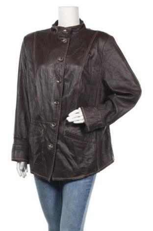Дамско кожено яке Frank Walder, Размер XXL, Цвят Кафяв, Естествена кожа, Цена 53,39лв.