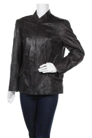 Дамско кожено яке Gerry Weber, Размер XL, Цвят Кафяв, Естествена кожа, Цена 35,91лв.