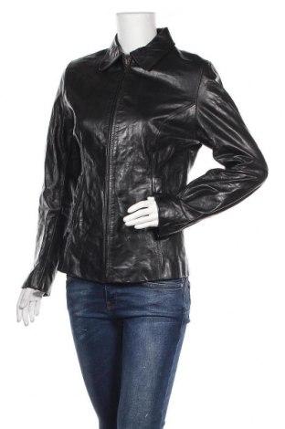 Дамско кожено яке Gipsy, Размер M, Цвят Черен, Естествена кожа, Цена 37,28лв.