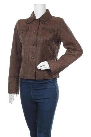 Дамско кожено яке Laura Scott, Размер M, Цвят Кафяв, Естествена кожа, Цена 30,87лв.