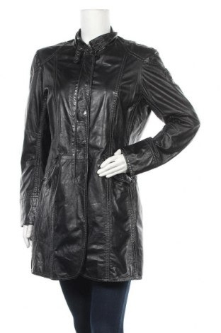 Γυναικείο δερμάτινο μπουφάν Mauritius, Μέγεθος L, Χρώμα Μαύρο, Γνήσιο δέρμα, Τιμή 64,59€