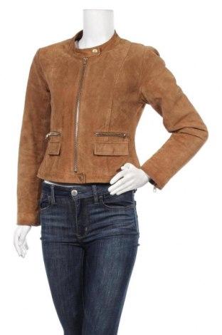 Дамско кожено яке ONLY, Размер L, Цвят Кафяв, Естествена кожа, Цена 18,84лв.