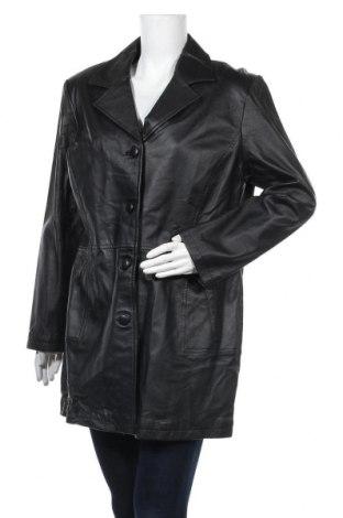 Дамско кожено яке Woodpecker, Размер XL, Цвят Черен, Естествена кожа, Цена 77,81лв.