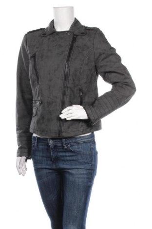 Дамско кожено яке Yessica, Размер L, Цвят Сив, Еко кожа, Цена 41,90лв.