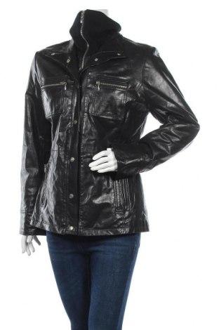 Дамско кожено яке Yuppie, Размер M, Цвят Черен, Естествена кожа, Цена 24,15лв.
