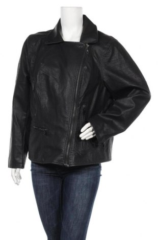 Γυναικείο δερμάτινο μπουφάν Zizzi, Μέγεθος XXL, Χρώμα Μαύρο, Δερματίνη, Τιμή 35,40€