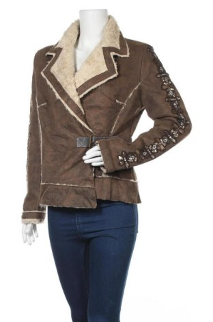 Дамско палто, Размер M, Цвят Кафяв, Полиестер, Цена 17,64лв.