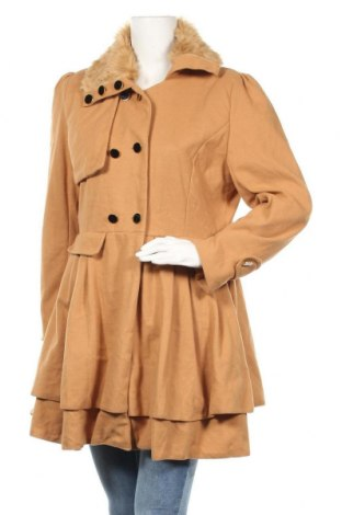 Дамско палто, Размер L, Цвят Кафяв, Цена 15,80лв.