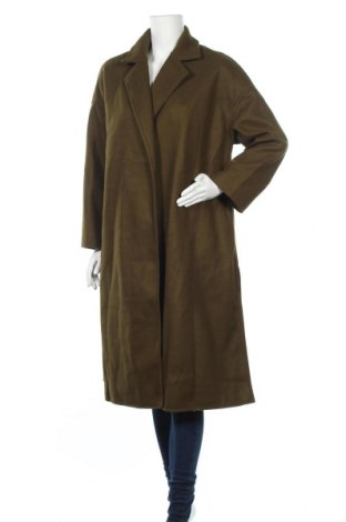 Дамско палто, Размер L, Цвят Зелен, Полиестер, Цена 46,31лв.