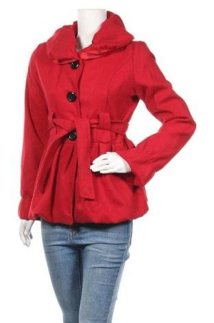 Дамско палто, Размер M, Цвят Червен, 70% вълна, 30% акрил, Цена 46,20лв.