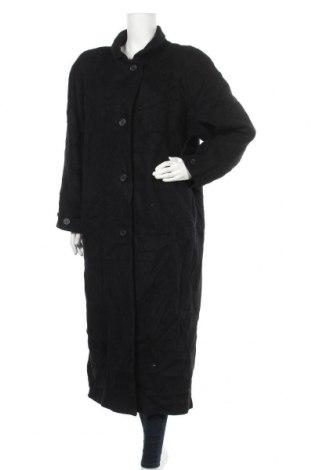 Дамско палто, Размер L, Цвят Черен, 55% вълна, 25% полиестер, 20% полиамид, Цена 17,85лв.