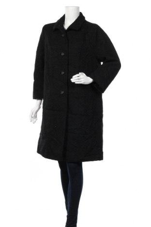 Дамско палто, Размер L, Цвят Черен, Цена 17,64лв.