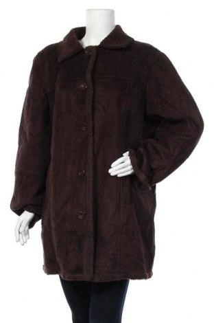Дамско палто, Размер XL, Цвят Кафяв, 80% полиестер, 20% акрил, Цена 11,55лв.