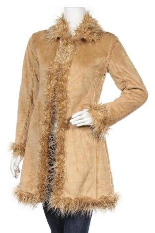 Дамско палто, Размер S, Цвят Бежов, 100% акрил, Цена 54,60лв.