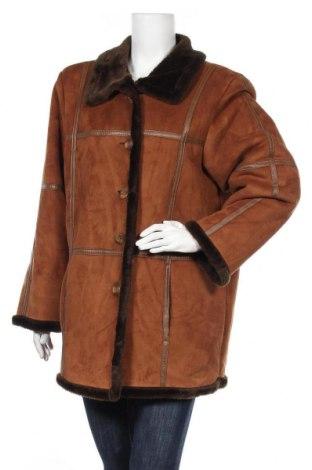 Дамско палто, Размер XL, Цвят Кафяв, 60% полиакрил, 40% полиестер, Цена 20,16лв.