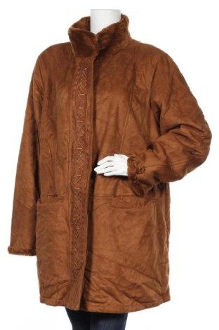 Дамско палто, Размер XXL, Цвят Кафяв, Полиестер, Цена 50,40лв.
