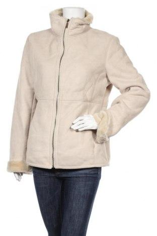 Дамско палто, Размер L, Цвят Бежов, 75% акрил, 25% полиестер, Цена 49,35лв.