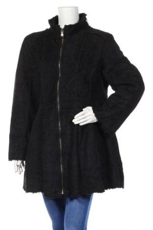 Дамско палто A.N.A., Размер L, Цвят Черен, 64% полиестер, 36% акрил, Цена 22,68лв.