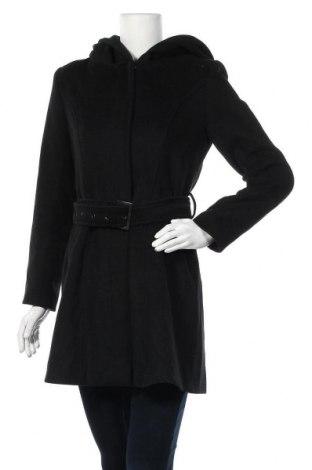 Γυναικείο παλτό Ann Christine, Μέγεθος S, Χρώμα Μαύρο, 70% πολυεστέρας, 20% μαλλί, 10% άλλα νήματα, Τιμή 21,95€