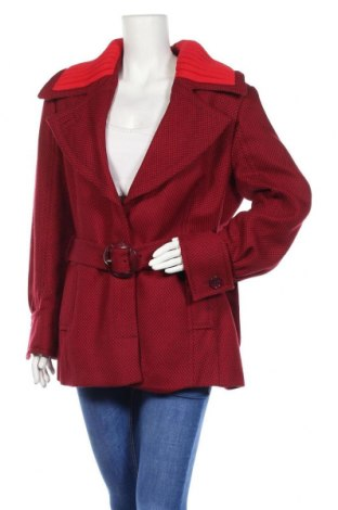 Γυναικείο παλτό Escada Sport, Μέγεθος XL, Χρώμα Κόκκινο, Μαλλί, Τιμή 96,64€